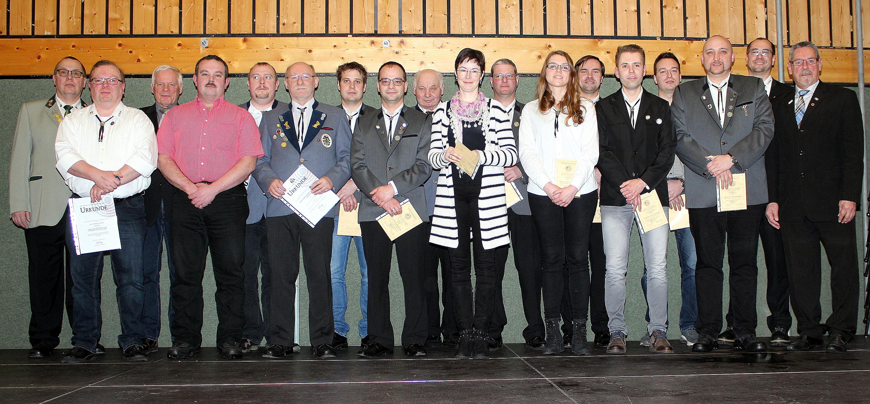 Kreisschützentag Mitglieder-Ehrungen